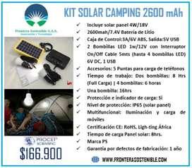 Kit Solar Camping 2600mah