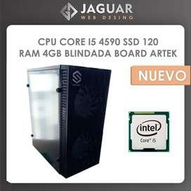 CPU GAMER CORE I5 4590 SSD 120 RAM 4GB BLINDADA BOARD ARTEK