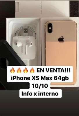 Iphone Xs Max de 64Gb con cajas y accesorios