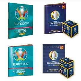 Álbumes de la Copa América y la Eurocopa