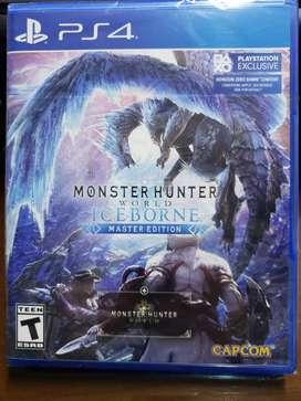 Monster hunter world iceborne master edition para Ps4 Disco físico
