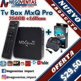 TV BOX NUEVO MODELO MXQ DE 16GB + 256GB + MINI TECLADO MEGA COMBO EXCLUSIVO DE NEGOVENTAS