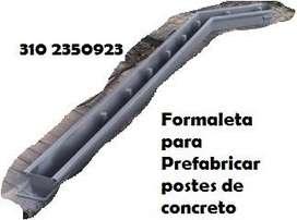 Formaletas Prefabricados Postes Concreto construccion Vibradores