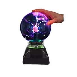 Lámpara Esfera Bola De Plasma Relámpago Sensible Al Tacto