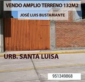 JOSÉ LUIS BUSTAMANTE VENDO AMPLIO TERRENO 132M2 URB PRIVADA IDEAL PARA DEPARTAMENTOS
