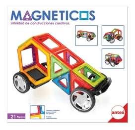 Magnéticos Set De Construcciones Creativas 21 Piezas Antex