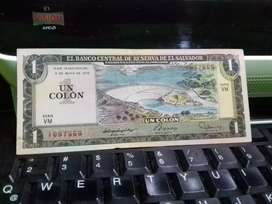 Se vende billete de 1 colon 1979