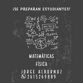 Profesor, Matematica, Fisica, Algebra, Nivel Primario, Secundario, Ingreso a la Universidad