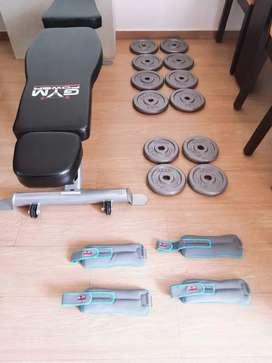 Vendo de oportunidad silla gradual para hacer ejercicios gym power