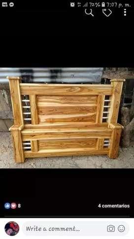Vendo camas  en madera teca las