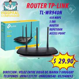 ROUTER TP LINK 3 ANTENAS TL-WR940N