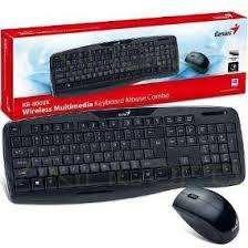 Teclado y Mouse Genius para Internet . Kit C210. Con cable USB.