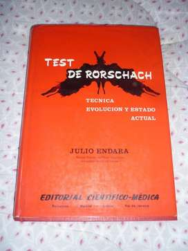 TEST DE RORSCHACH . TECNICA EVOLUCION Y ESTADO ACTUAL . JULIO ENDARA 1967