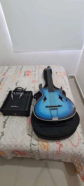 Se vende guitarra con amplificador