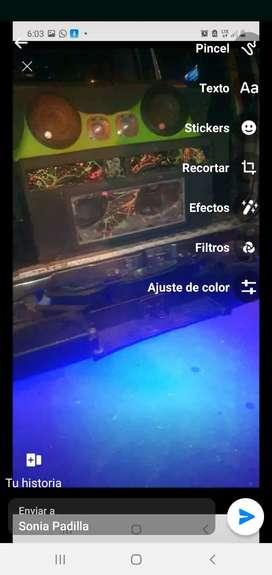 audio de competencia  caja turbo rebote 2 bajos kenwood precio 700