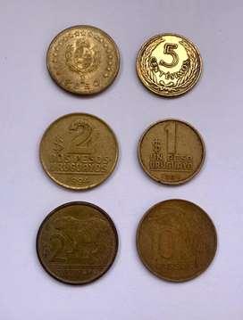 Uruguay lote de monedas
