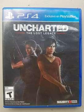 Uncharted: El Legado Perdido (PS4) en excelentes condiciones