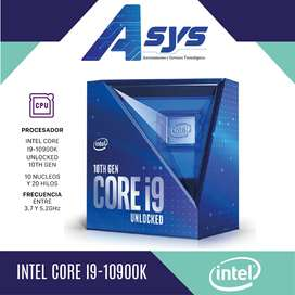 Intel i9 10900k 10 Núcleos y 20 Hilos hasta 5.3GHz