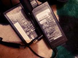 cargadores originales. hp y toshiba