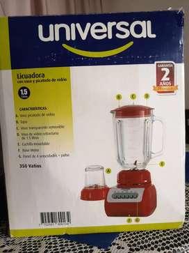 Licuadora 1.5lts universal vaso y picatodo de vidrio