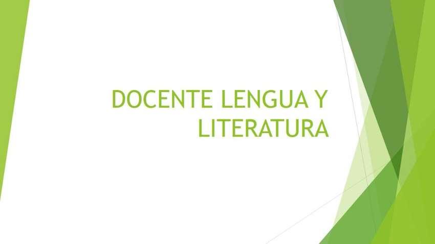 Docente de Lengua y Literatura