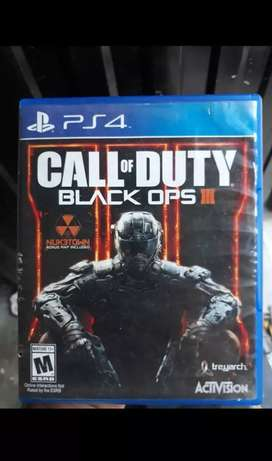 Vendo call of duty blak 3 para ps4