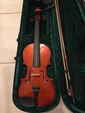 Violin escuela careli + arco +estuche rigido + soporte