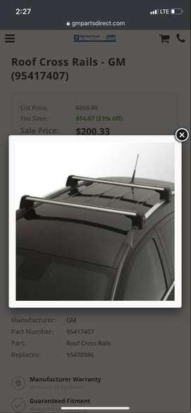 Barras portaequipaje Chevrolet Tracker Originales