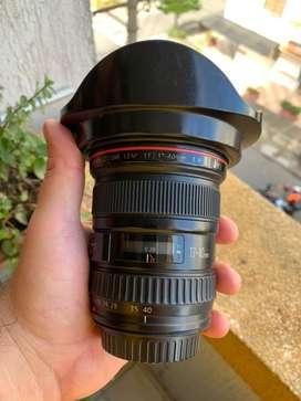 Lente canon 17-40 f/4