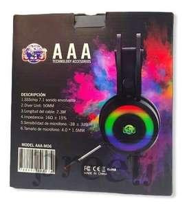 Audifonos Gamer Aaa-M06 con microfono
