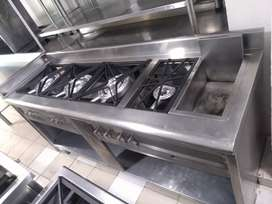 Estufa industrial restaurante.