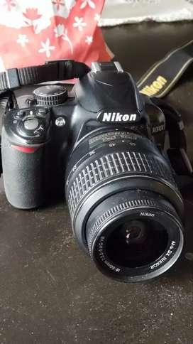 Camara de fotos reflex Nikon D3100 + 2 lentes Nikon