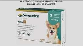 Simparica Antipulga, Garrapata Y Sarna 10-20 Kg (3 Tabletas)