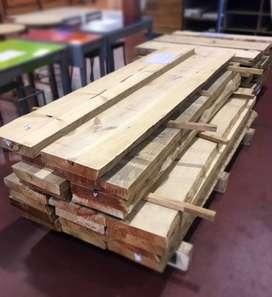 Venta de madera de pino tablones ,vigas, listones, puntales etc.Al por mayor y menor con sus respectivos papeles