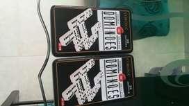 Set de domino 2 cajas metalicas