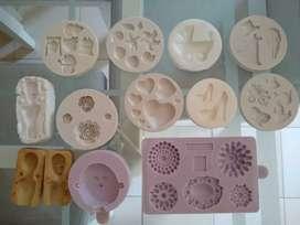 Artículos de repostería. Moldes de silicona para fondant