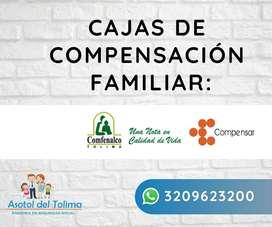 Afiliacion a cajas de compensación Familiar, comfenalco - compensar