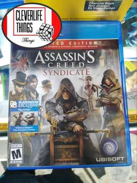 JUEGO ORIGINAL USADO OFICIAL PLAY 4 STATION PLAY CON MANUAL ASSASINS CREED SYNDICATE