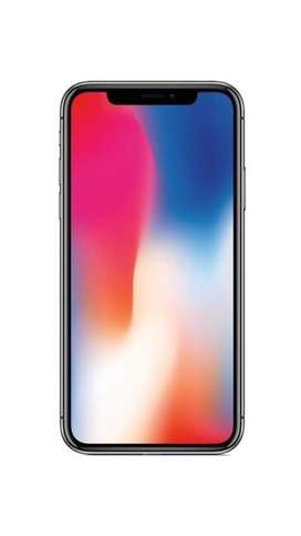 Iphone X 64G (USA). Batería 86%. Pantalla impecable. Detalle en vidrio trasero.
