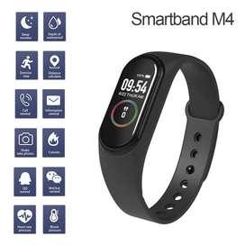 Reloj Inteligente Smartband M4 Pulsera Ritmo Cardiaco Pasos Negro