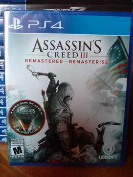 Assassins creed 3 remastered nuevo sellado ps4
