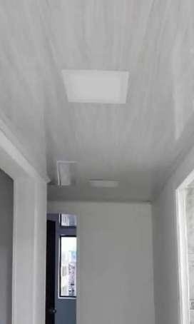 Instalación de cielos y paredes PVC y panel yeso