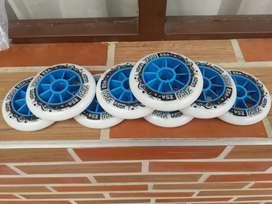 Ruedas / llantas patines profesionales  8 unidades 110mm 85a