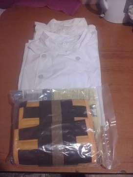 2 chaquetas Chef.Pastelero + faja talle 3