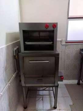 horno y  gratinador en acero