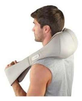 Masajeador Cervical y Sillon masajes Shiatsu lumbar-dorsal marca Homedics Deluxe