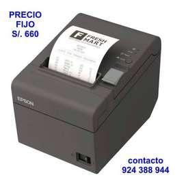 Impresora ticketera Epson TM-T20II para recibos de puntos de venta