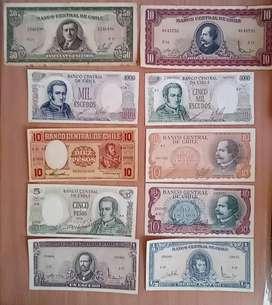 Billetes de chile antiguos