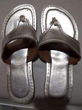 Sandalias plateadas 37