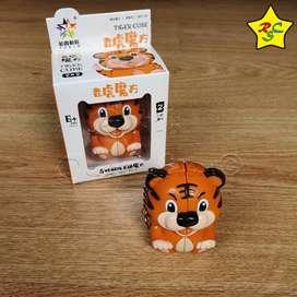 Cubo Rubik Tigre Mini 2x2 Llavero Animal Yuxin Rubik Cube